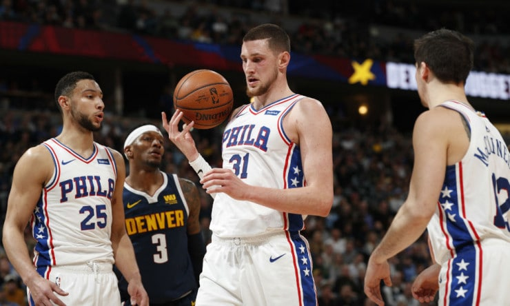 new product 32e54 bc490 NBA Daily: Mike Muscala Fitting in with Philadelphia ...