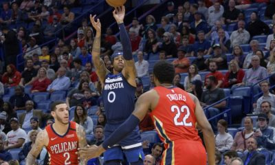 D'Angelo Russell and the Minnesota Timberwolves are taking on the Houston Rockets