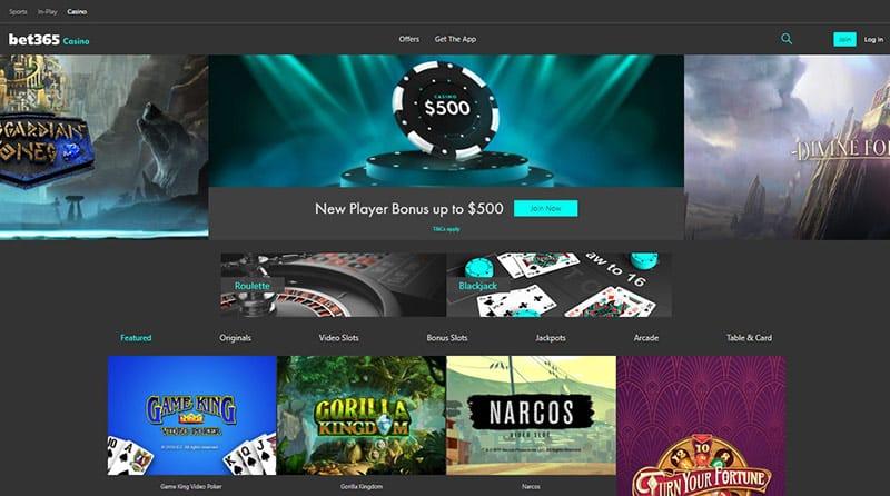 Bet365 Casino Page