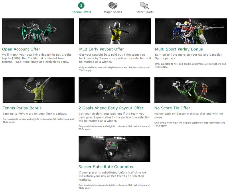 Bet365 Sports Bonus Page