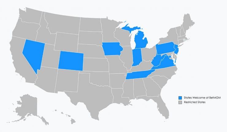 BetMGM Map