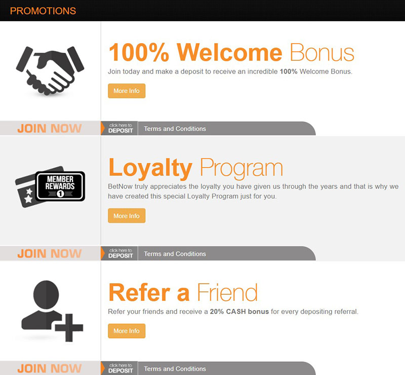 BetNow Promotions Page