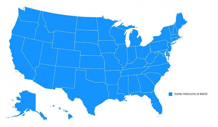 BetUS Region Map