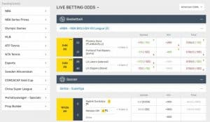 Bovada Live Betting