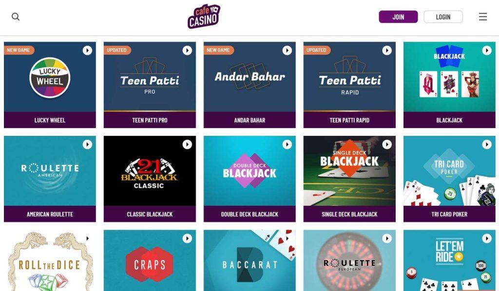 CafeCasino Online Casino