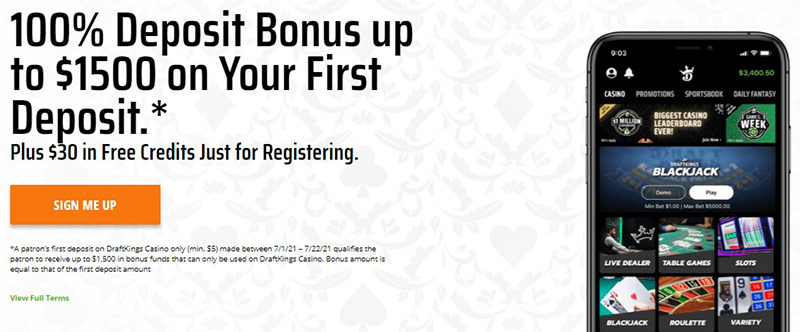 DraftKings Casino Promo Code