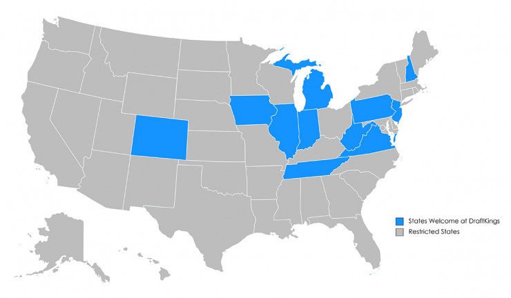 DraftKings Region Map
