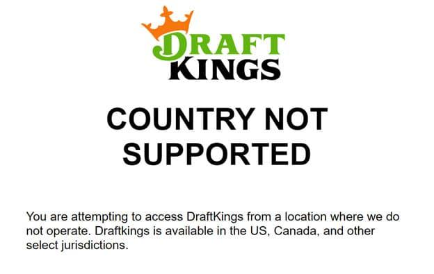 DraftKings Restricted Regions