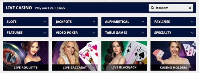 GTbets Live Casino