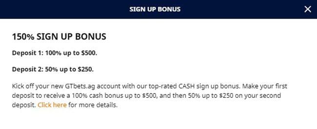 GTbets Bonus