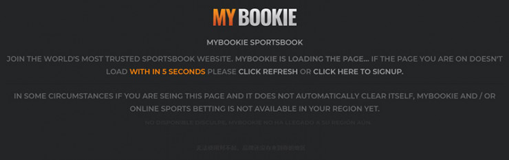 MyBookie Restricted Message