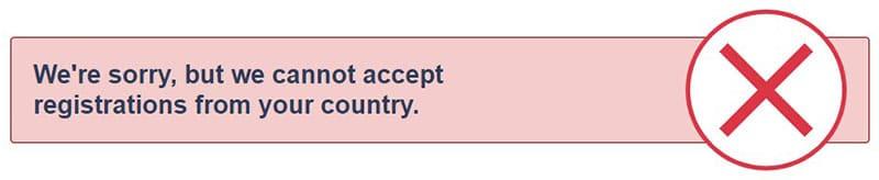 BetUS Restricted Region