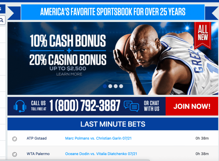 BetUs: one of the best eCheck betting sites