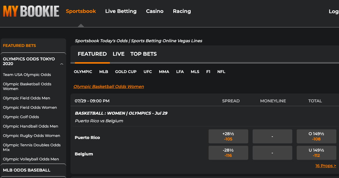 MyBookie is a brilliant site for sports bettors based in Florida