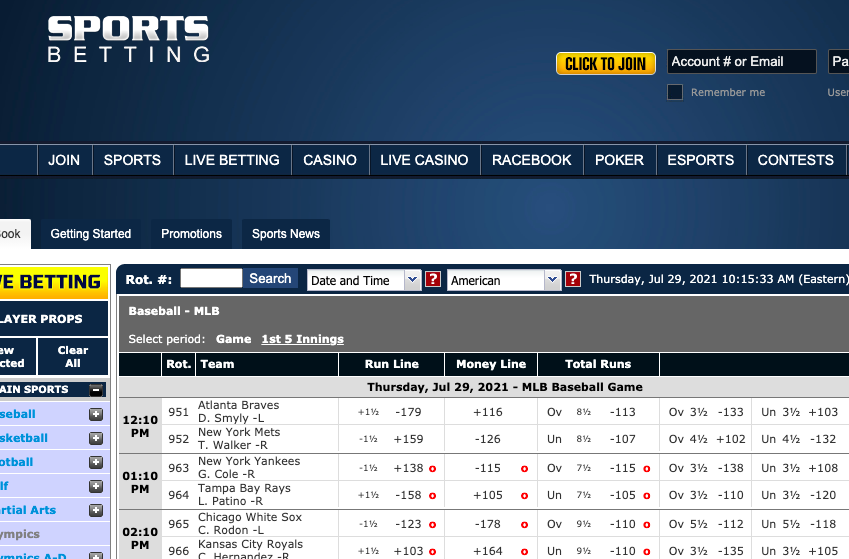 Sportsbetting.ag is great for releasing odds early for selected events