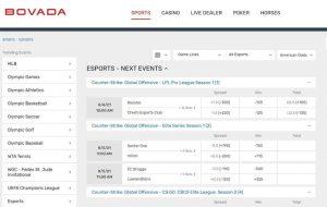 Bovada Esports Betting