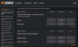 MyBookie Esports Betting Lobby