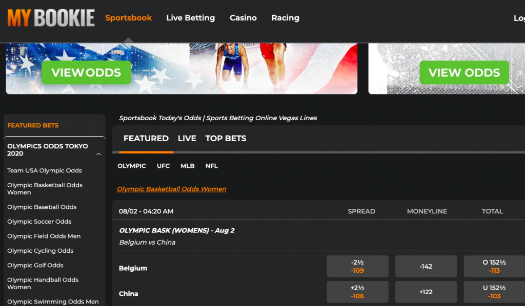 MyBookie provides a wealth of sports for Arizonian residents to bet on