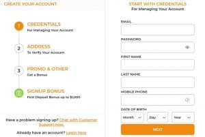 Sign Up for a MyBookie Sportsbook Account