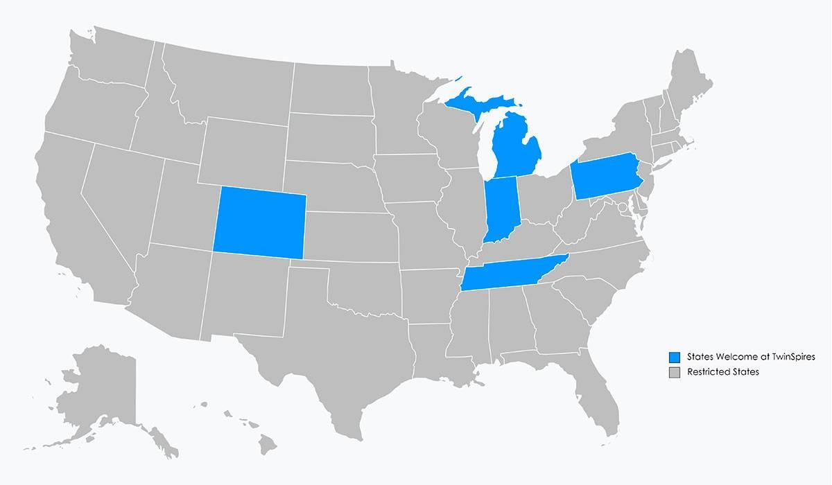TwinSpires Region Map
