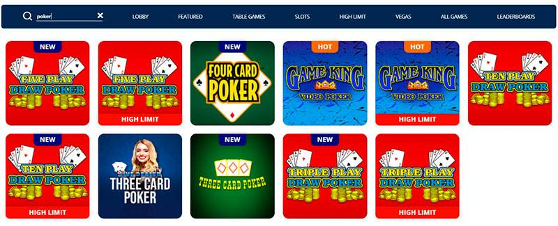 TwinSpires Poker Page