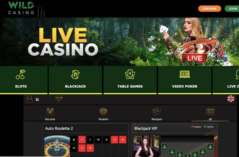 Wild Casino live dealer games