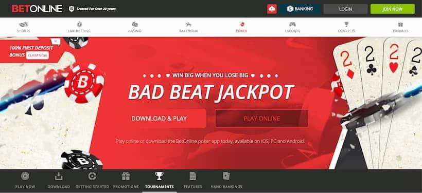 BetOnline Bitcoin Poker Casinos image
