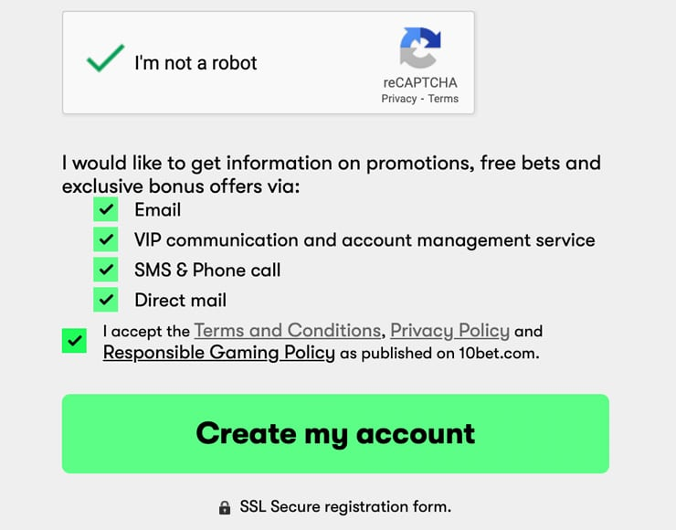 """Complete The Signup Process By Clicking """"Create My Account"""""""