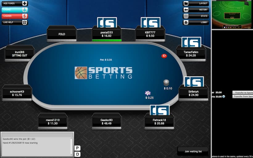 SportsBetting.ag Bitcoin Poker Casinos image