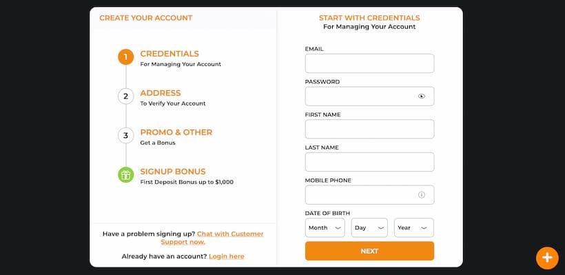 Account page Bitcoin slots image
