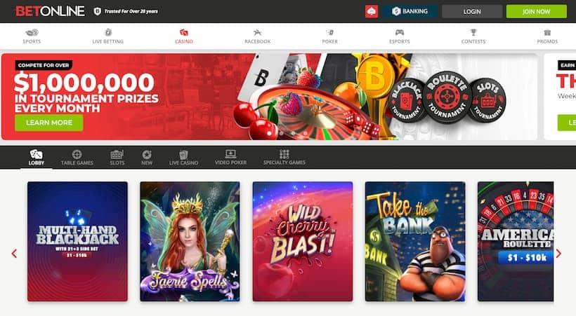 BetOnline Bitcoin Casinos image