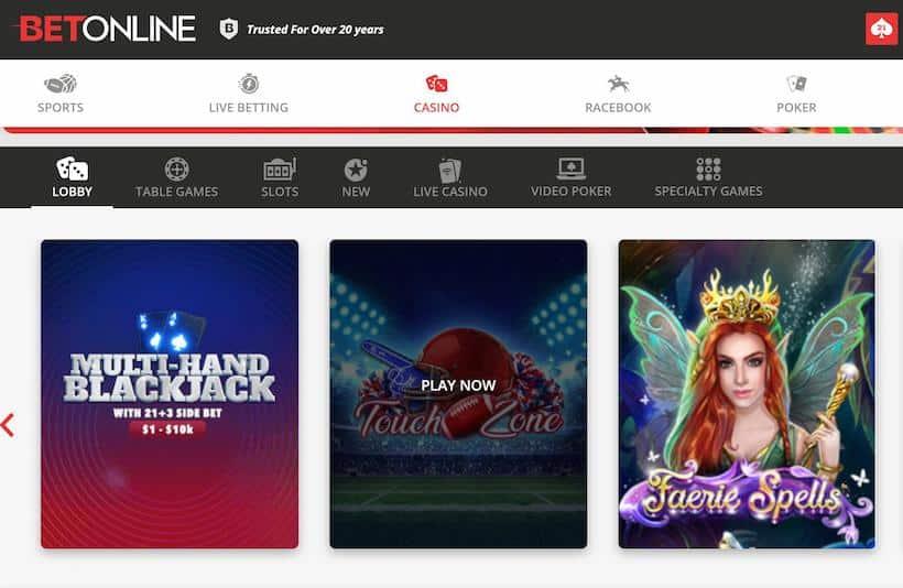 BetOnline Casino Play Now