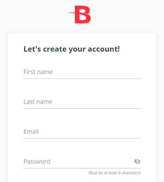 BetOnline Registry Step 1