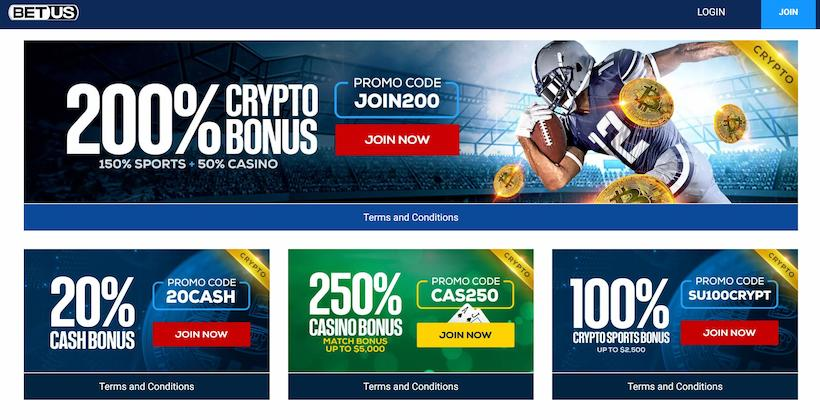 BetUS Bonuses and Promotions