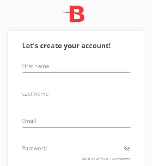 BetOnline Register Step 1