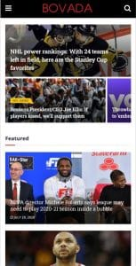 Bovada Sports Mobile App News Feed