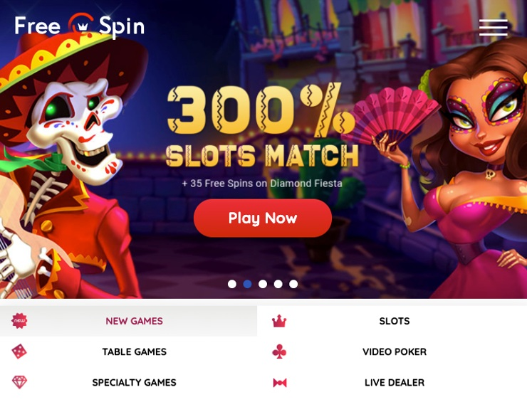 Free Spin Online Casino Mobile Experience