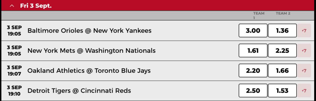 MLB betting at Power Play