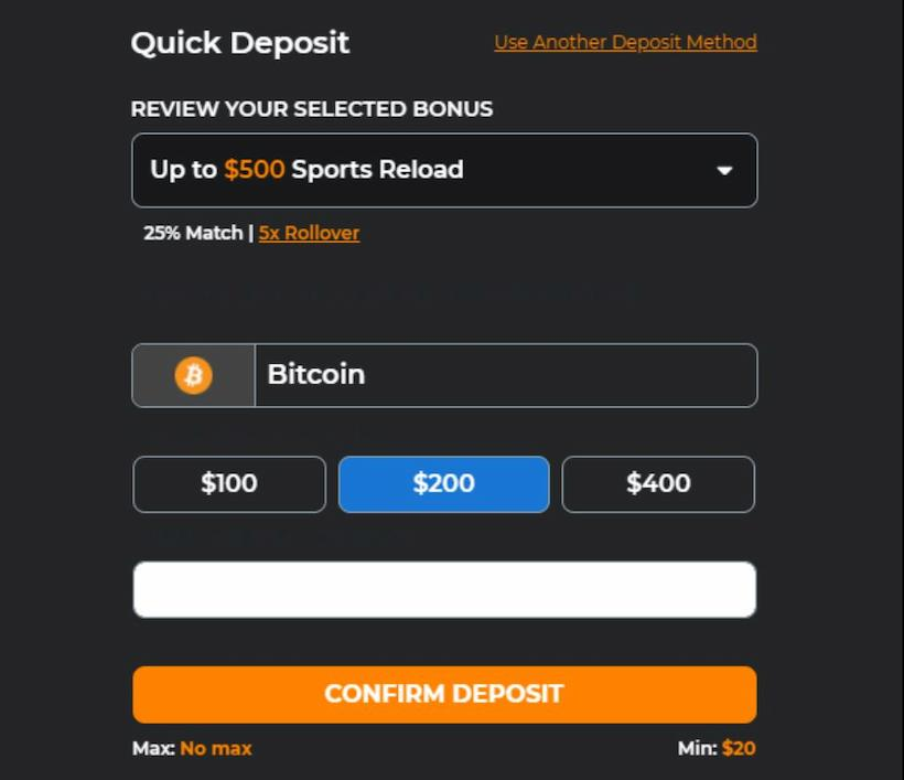 MyBookie Make a Deposit