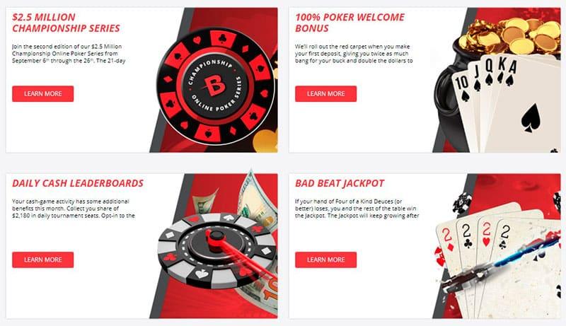 BetOnline Poker Bonus Section