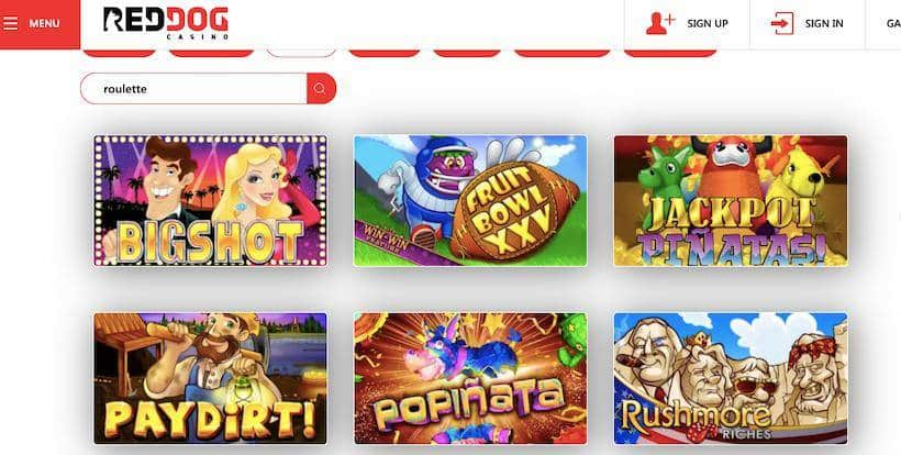 Red Dog slots titles