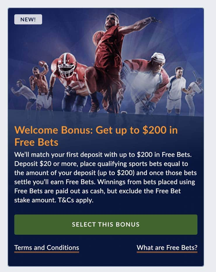 Select a bonus while you signup at a New Brunswick sports betting site