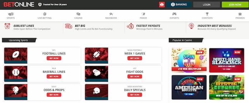 BetOnline - an echeck sportsbook offering fantastic odds across all sports