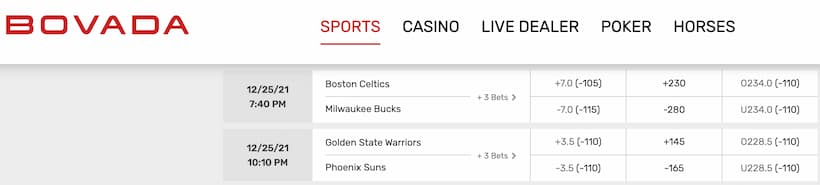 Bovada is the best reduced juice sportsbook for NBA
