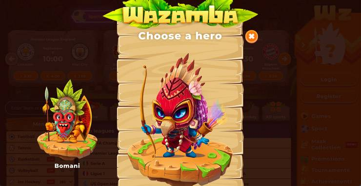 Choosing A Hero At Wazamba