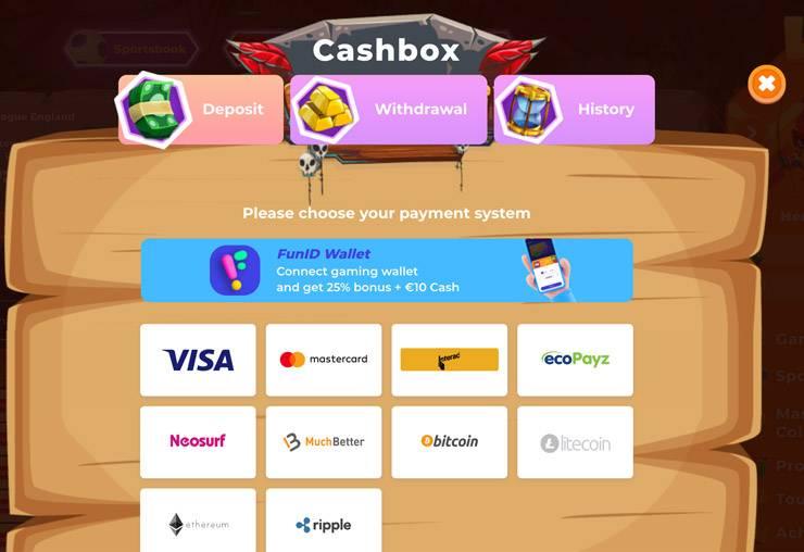 Selecting A Payment Method At Wazamba