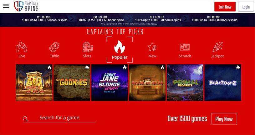 captain spins casino en ligne