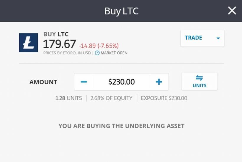 eToro Buy Litecoin