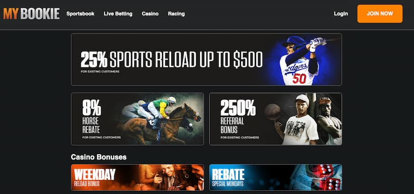 MyBookie Best bitcoin Betting sites image