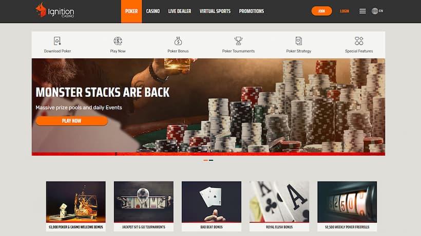 Ignition Top Caribbean Stud Poker Casinos image